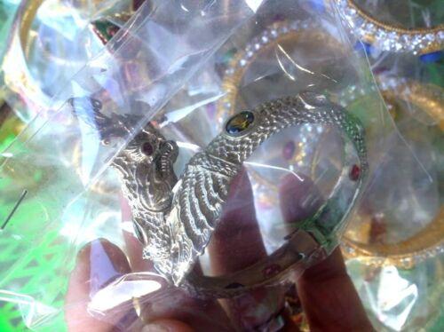 1 rare White Amulet Naga Wrist Pendant Hunting Money Rich Lucky Talisman Wealt