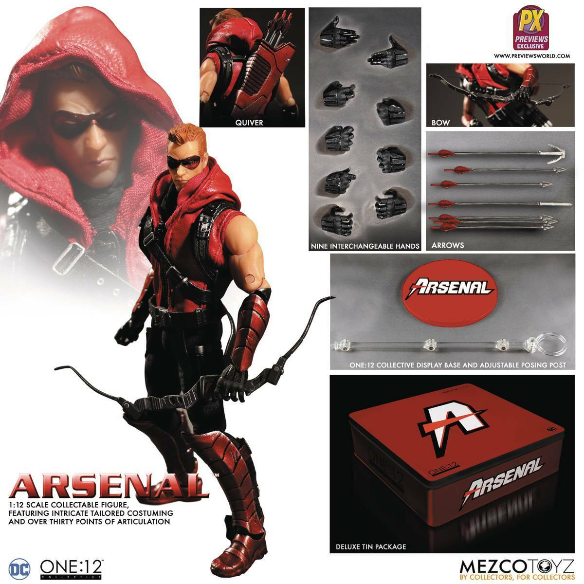 Mezco One 12 DC Arsenal Previews Exclusive Action Figure MINT NEW IN BOX