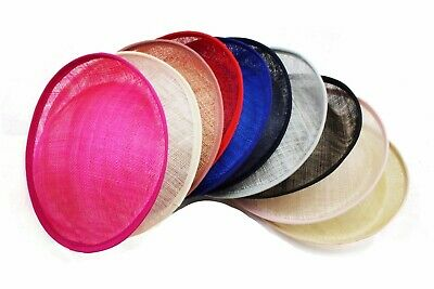 4 In 1 Set 16cm Round Fascinator Base Set Sinamay Disc DIY Material Craft Making