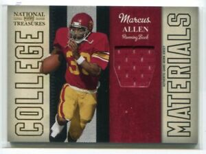 differently ee001 9a49b Details about 2009 Playoff National Treasures College Materials Marcus  Allen USC Jersey 85/99