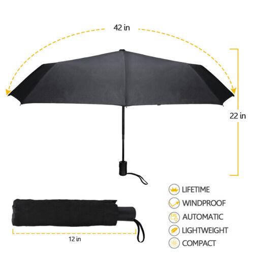 8 Ribs Automatic Folding Compact Umbrella Windproof Men Women Travel Umbrella US