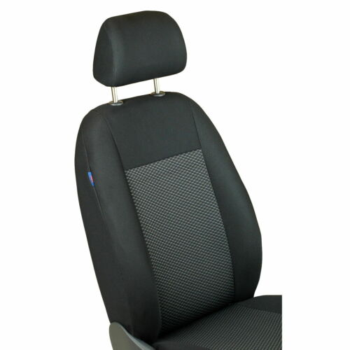 CAR SEAT COVERS FOR MITSUBISHI L200  FRONT SEATS BLACK GREY TRIANGLES