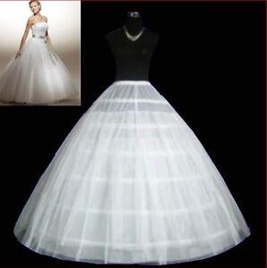 A-line-6-Hoop-Bridal-Wedding-Dress-Petticoat-Slips-Underskirt-Crinoline-0809A3