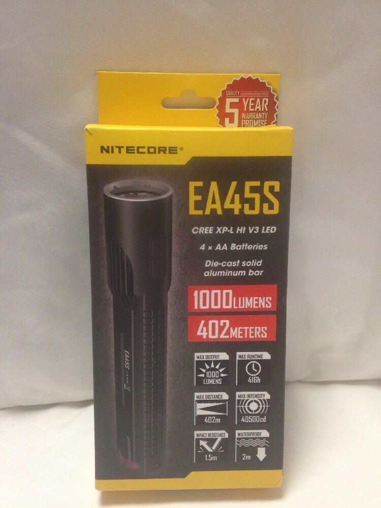 Nitrore ea45 s cree XP - l hi V3 LED flash Lights 1000 x 402 m