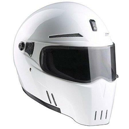 BANDIT ALIEN 2 HELMET WHITE ECE 22-05 ROAD LEGAL STREETFIGHTER HELMET