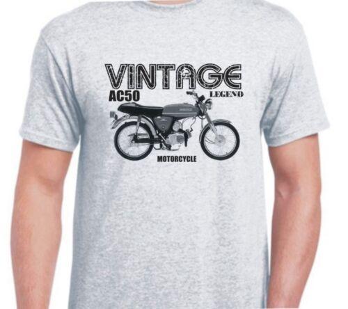 SUZUKI AC50 inspired vintage motorcycle classic bike shirt tshirt