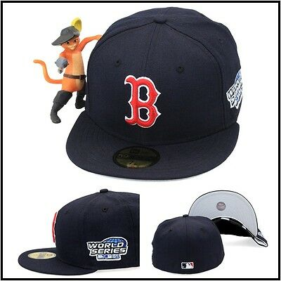 2141d0bc62e New Era Boston Red Sox Fitted Hat Cap 2004 World Series Side Patch MLB  59fifty
