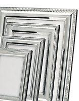 Bilderrahmen Silber Fotorahmen versilbert 9x13 10x15 13x18 20x25 cm