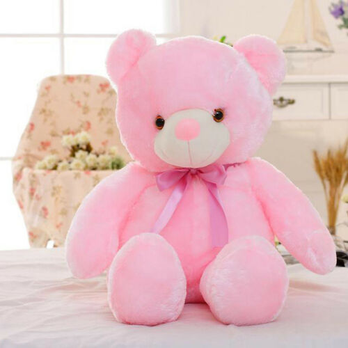 LED Stuffed Animals Plush Toy Big Size 50cm Colorful Glowing Teddy Bear for Kids