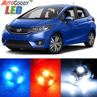 8 x Premium Xenon White LED Lights Interior Package Kit for Honda Fit + Tool