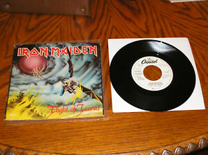 Iron-Maiden-7-034-Double-A-side-White-Label-Promo-Flight-of-Icarus-Heavy-Metal