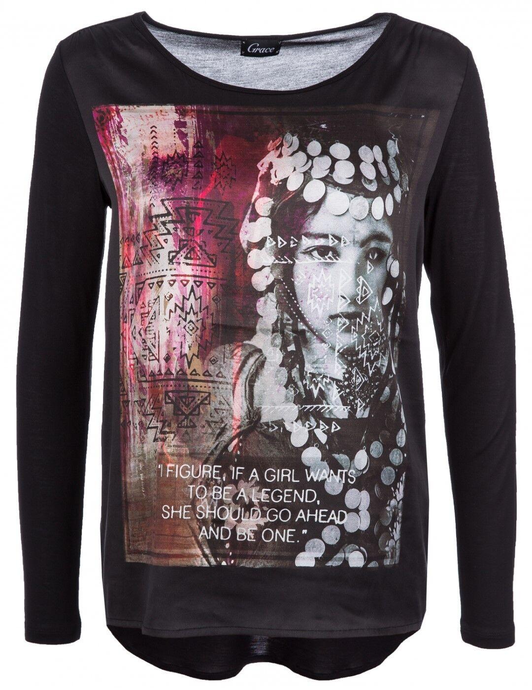 Grace Shirt Longsleeve Print India 408 2301 UVP