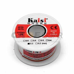 0.3mm 50G 60/40 Rosin Core Flux 1.2% Tin Lead Roll Soldering Solder Wire 600157406092