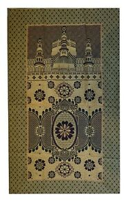 Muslim-Prayer-Rug-Islamic-Janamaz-Travelling-Prayer-Mat-with-3-Gift-Items-Yellow