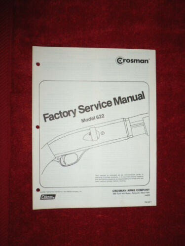 Crosman 622 service manual avec Vue éclatée