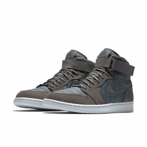 Air Jordan 1 High Strap 342132 005 Grey Men Sz 10 Ebay