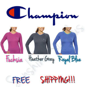 NEW-Women-039-s-CHAMPION-Active-Yoga-Athletic-Long-Sleeve-Tee-Shirt-Variety