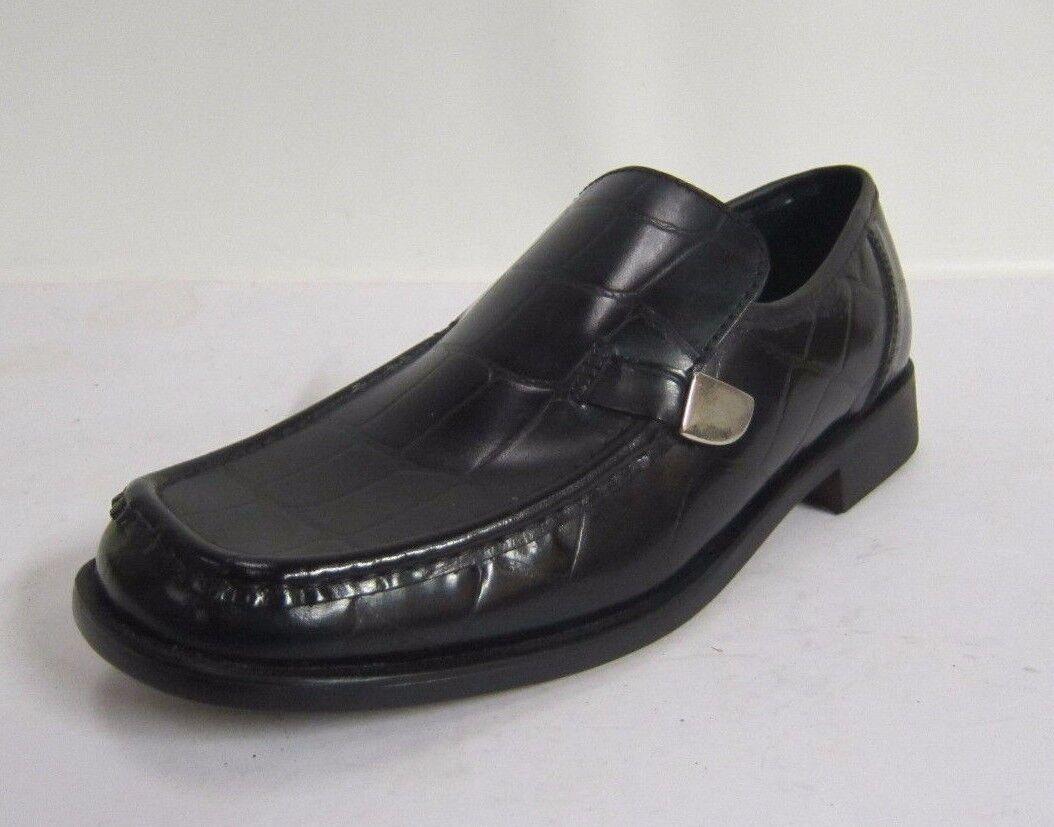 MAL003- Mens Malvern Black Snake Skin Great Effect Slip On Shoes- Great Skin Price! c27c60