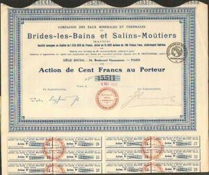 EAUX MINERALES & THERMALES de BRIDES-LES-BAINS & SALINS-MOUTIERS (SAVOIE) (A)