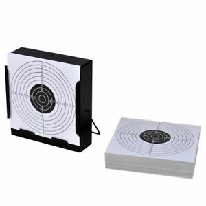 vidaXL-Square-Target-Holder-with-100-Paper-Targets-14cm-Pellet-Trap-Shooting