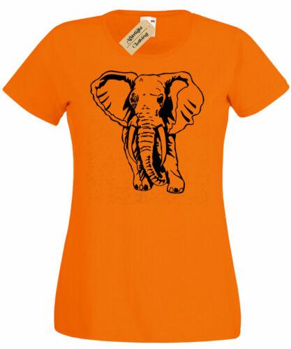 Damen Elefant T-Shirt Tier Grafik Damen Top T-Shirt