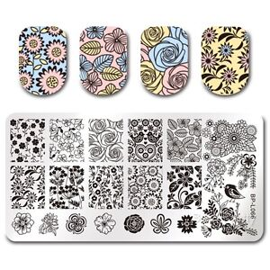 Born-Pretty-Nail-Art-Stamp-Placa-Manicura-Plantilla-de-Imagen-Diseno-Floral-BPL-66