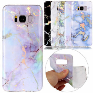 Plating-Marble-Pattern-Soft-Silicone-Bumper-Case-Cover-For-Samsung-Galaxy-S8-S9