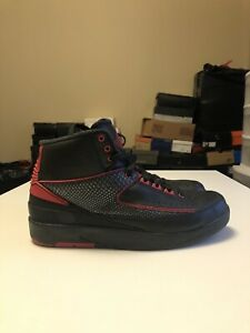 e8127fabcc32a5 Nike Air Jordan 2 II Retro Alternate 87 Black Varsity Red SZ 8 ...