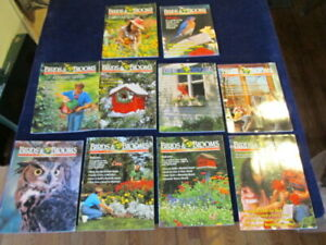 Birdwatching-Birding-BIRDS-AND-BLOOMS-Magazine-Lot-of-10-Issues-M12