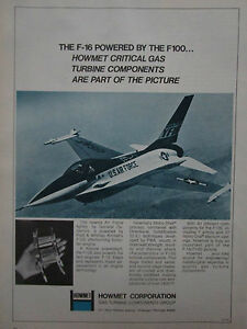 Details about 5/75 pub howmet gas turbine components us air force yf-16  f-16 f100 engine ad- show original title