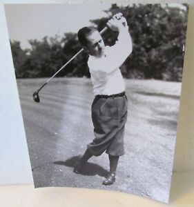 Details About 8 X 10 Black White Photo Of Bobby Jones At The Finish Of His Swing Repro