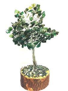 Green-Onyx-Reiki-Healing-Gemstones-Tree-Vastu-Spiritual-Table-Decor-FreeShip