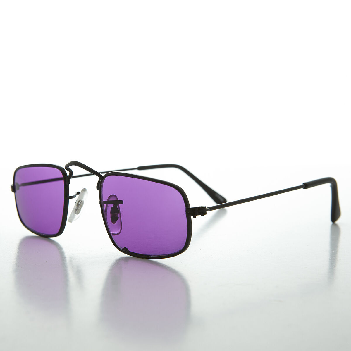 Ben Franklin Square Hippy Sunglass with Colored Lens Purple/Black - Jazz