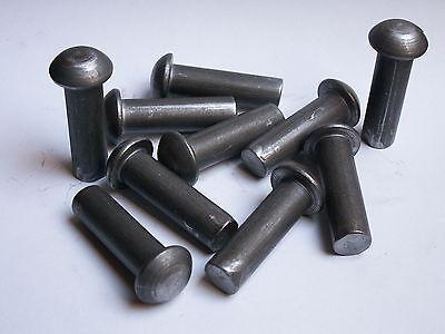 50 Stahlnieten Halbrundnieten  Vollnieten Nieten DIN 660 Halbrundkopf 3x5