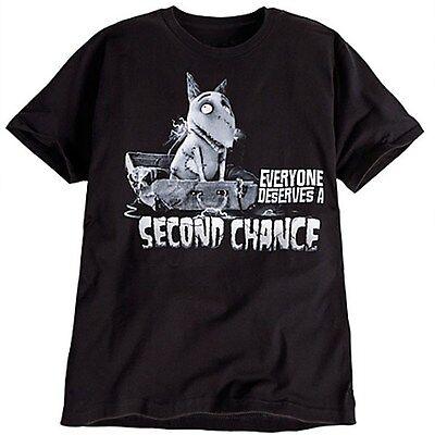 "FRANKENWEENIE Sparky T Shirt ""Everyone Deserves A Second Chance"" TIM BURTON"
