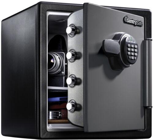 Electronic Lock Safe Box W// Digital Keypad 1.23 Cu Ft Fire-Resistant Waterproof