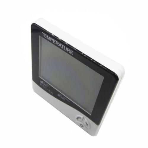 Digital Luminous Test Clock Hygrometer Temp Humidity HTC-8A NEW