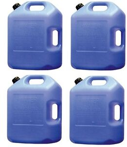 Image is loading 4-ea-Midwest-Can-6700-6-gallon-Potable- & 4) ea Midwest Can # 6700 6 gallon Potable Water Storage Container w ...