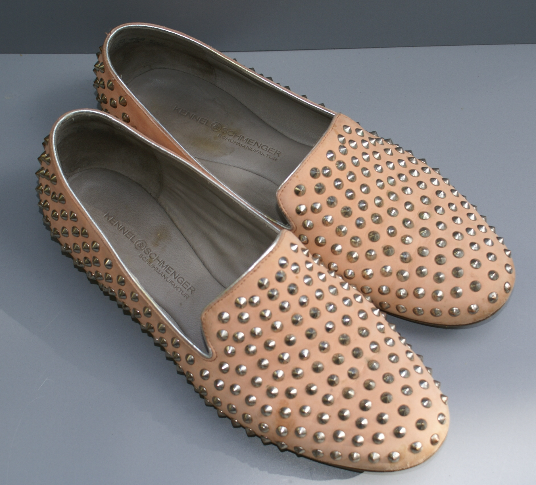 KENNEL & SCHMENGER K & S Slipper Flats Echtleder rose Gr. 39 / UK 6 TOP Zustand