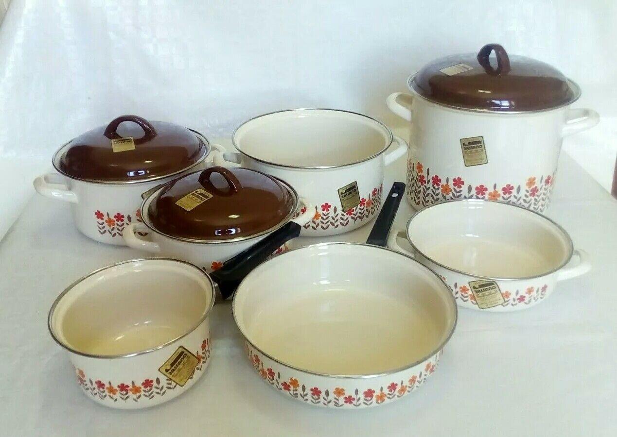 Battery pots Bassano 10 Pieces Enamel Porcelain FFaibleers