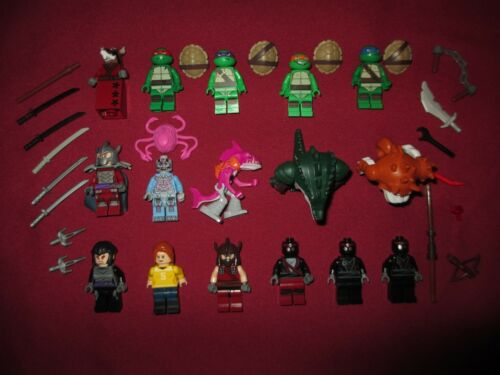 LEGO TMNT Turtles Ninja  Minifigure LOT Leonardo,Donatello,Michelangelo,Raphael