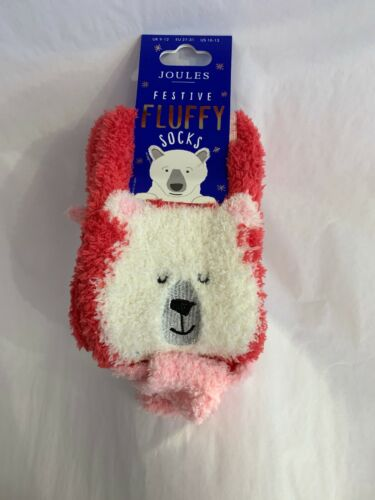 NWT Joules Girls Fluffy Slipper Socks Size US 10-13