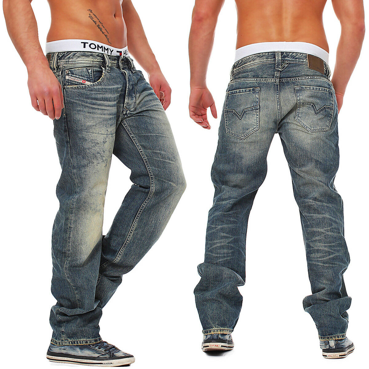 85ea35c8910a JEANS DIESEL 0828d 828d Uomo Regular Straight DNA Collezione Larkee  mutazione npjvop4408-Jeans