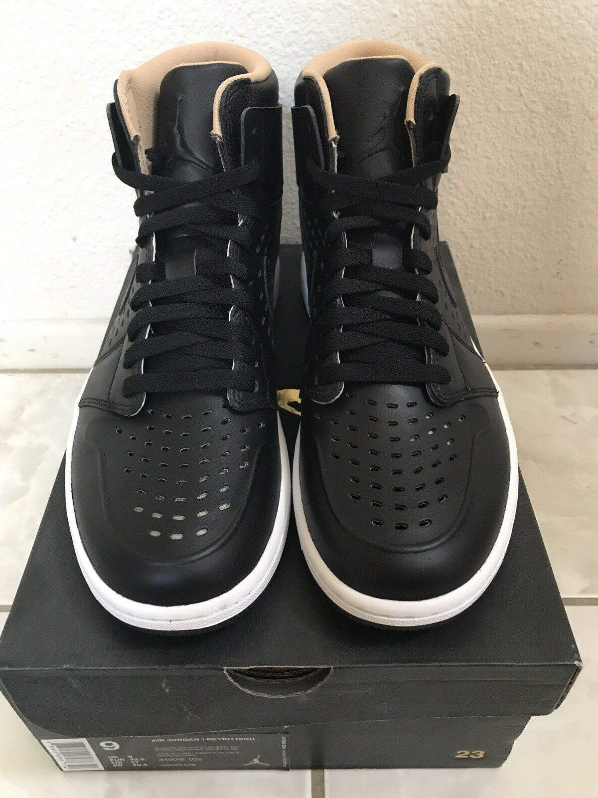 Air 1 Jordan 1 Air High (Black/White/Brown) Size 9 2a6b65