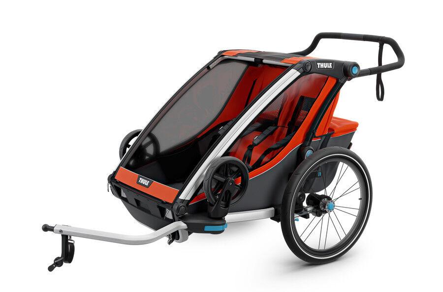 Multisport Fahrradanhänger Thule Chariot Cross 2, Kinderanhänger für zwei Kinder