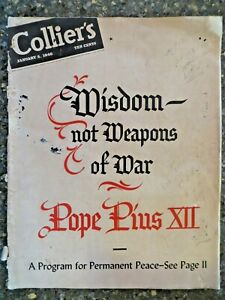 Collier-039-s-Magazine-January-5-1946-Wisdom-Not-Weapons-Of-War-GREAT-VINTAGE-ADS