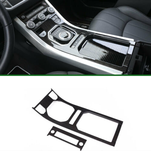 Black Wood Style Center Console Gear Panel Cover Trim For Range Rover Evoque