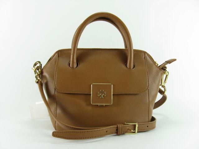 dd9e222c460 Tory Burch Clara Mini Satchel Crossbody Shoulder Bag Bark for sale ...
