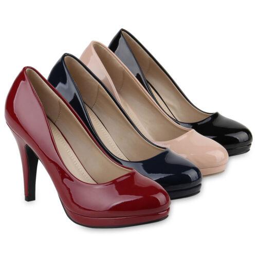 895419 Femmes Escarpins Plateforme Escarpins Talons Hauts vernies Stiletto élégante chaussures Hot
