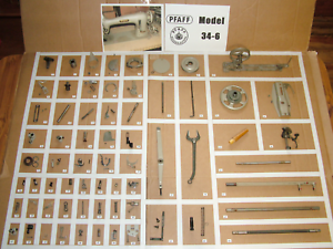 PFAFF-34-6-Industrial-Lockstitch-Shuttle-Sewing-Machine-Parts-Restore